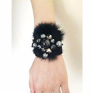 Jewelry - Designer Velours Real Fur & Beads Bracelet